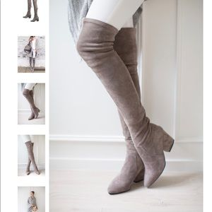 Stretch over the knee new without box boots